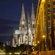 Cologne Bridge and Cathedral — Stock Photo #46998019