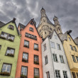 Historical houses in Cologne, Germany — Stock Photo