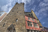 Rathaus Tower in Aachen, Germany — Foto Stock