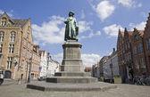 Staty av jan van eyck — Stockfoto