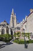 Churchtower of Bruges, Belgium — Photo