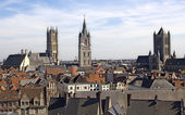 Churches of Ghent — Stock Photo