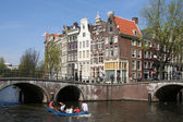 Boating in Amsterdam — Stock Photo