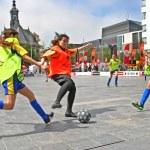 Girls play Soccer — Stock Photo #48588137