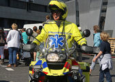 Motorcycle Medic — Stock Photo
