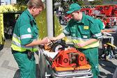 Medics and Victim — Stock Photo