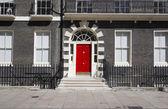 Rode deur — Stockfoto