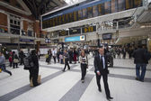 Waterloo Station Passengers — Stock Photo