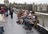 Musicians in London — Stock Photo