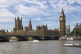 Westminster en de big ben — Stockfoto