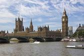 Westminster y el big ben — Foto de Stock