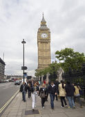 Tourists at Big Ben — Stockfoto