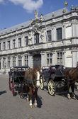 Horse Carriages in Bruges, Belgium — Stock Photo
