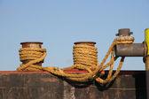 Harbor Ropes — Stock Photo