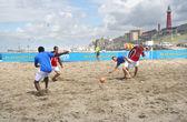 Plážový fotbal — Stock fotografie