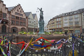 Frankfurt town square — Stock Photo