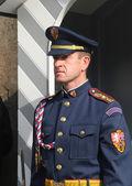 Guard at Prague Castle — Stock Photo