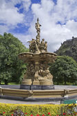 Fountain in Edinburgh Park — Stock Photo