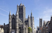 Churches of Ghent, Belgium — Stock Photo