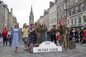 Musical at Edinburgh Festival Fringe — Stock Photo
