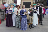 Victorians at Edinburgh Festival Fringe — Stock Photo