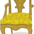 Stock Vector: Antique chair