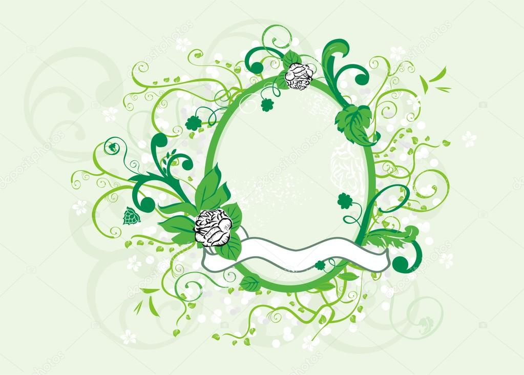 Romance frame with flourishes and rose flower  Imagen vectorial #12520291