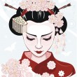 Geisha - Stock Vector