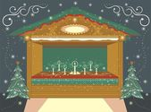 Christmas Fair — Stock Vector