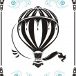 Vintage  hot air balloon - Stock Vector