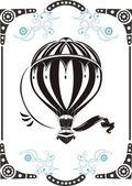 Vintage hete luchtballon — Stockvector