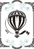 Vintage hot air balloon — Vector de stock