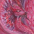 Red dragon — Stock Photo #21207281