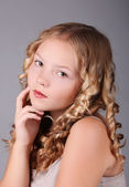 Beautiful blond girl Portrait — Stock Photo