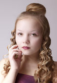 Close up young girl  portrait — Stock Photo