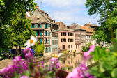 Beautiful old houses in  Strasbourg, France — Stock Photo