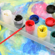 Acrylic paints — Foto Stock
