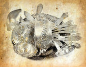 Old antique silverware. — Stock Photo