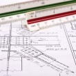 Plan , scale ruler - Stock Photo