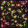Abstract glowing circles - Stock Photo