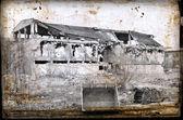 Ruinas de concreto en el distrito industrial — Foto de Stock