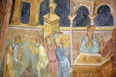 Frescoes in Rock-Hewn Churches of Ivanovo — Stock Photo
