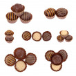 Chocolate candy truffles assortment — Stock Photo