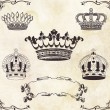 Collection of crowns, vintage illustration — Lizenzfreies Foto