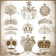 Stock Photo: Heraldic elements for design