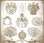 Heraldic elements for design — Stock Photo