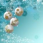Blue Christmas decorative background — Stock Photo