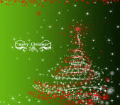 Green Christmas decorative background — Stock Photo