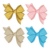 Big set of colorful gift bows and labels. — Stock Photo