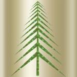 Christmas green tree — Stock Photo